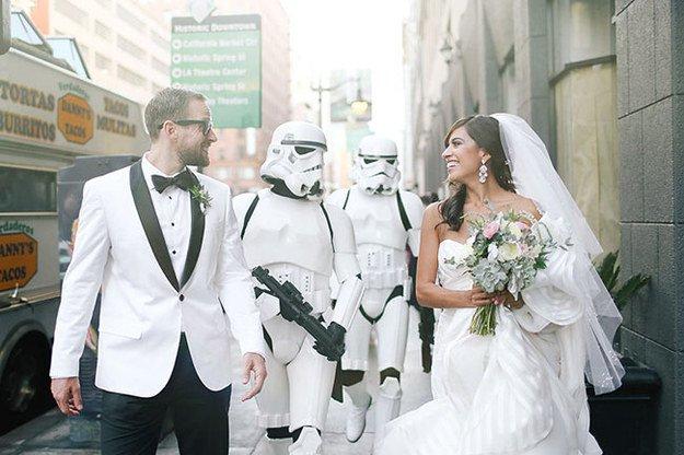 Casamentos inspirados no filme Star Wars!