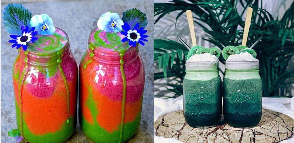 Como fazer smoothies coloridos!  #coloridices