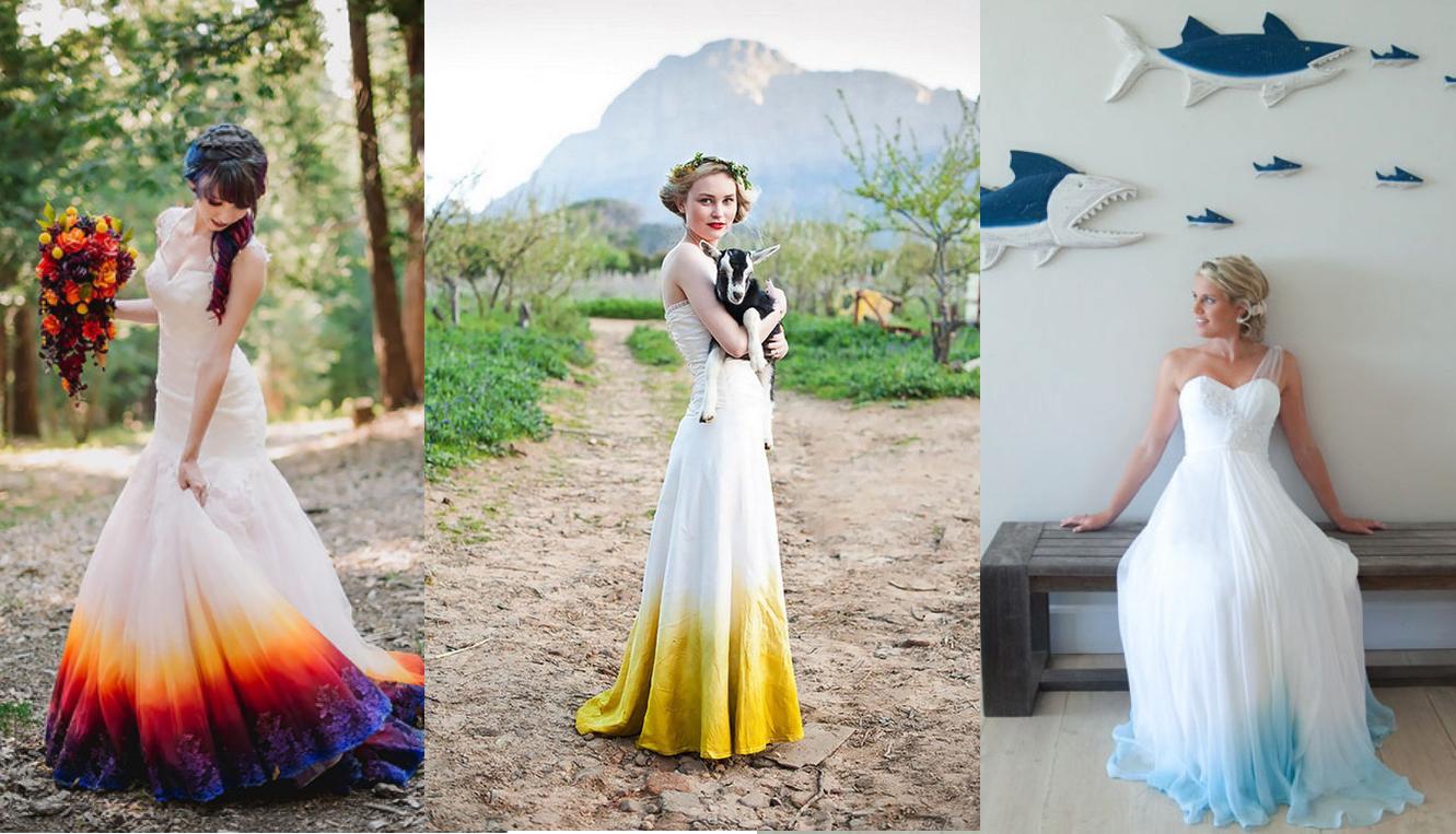 Trend Alert: Vestidos de Noiva Estilo Dip-dye
